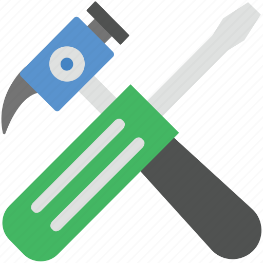hammer, options, preferences, screwdriver, settings icon