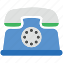 landline phone, retro telephone, ringing, telecommunication, telephone set icon