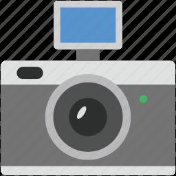 digital camera, flash camera, photo camera, photo shot, photography icon