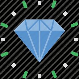 diamond, gemstone, gift, happiness, precious stone icon