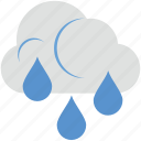atmosphere, cloud, rain, raindrops, raining icon
