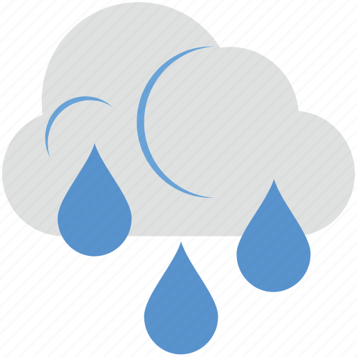 atmosphere, cloud, rain, raindrops, raining icon