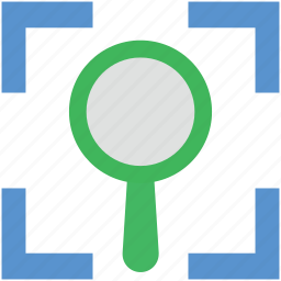 magnifier, magnifying, magnifying glass, search, searching tool icon