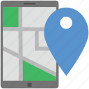 cell phone, globe, map, mobile map, mobile phone icon