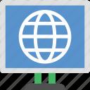 cyberspace, globe, globe screen, internet, lcd screen