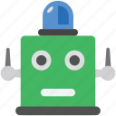 bionic robot, robot, robot face, robot light, robotic machine icon
