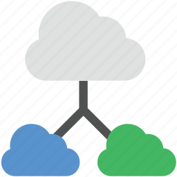 cloud computing, cloud sharing, network access, network hosting, network sharing icon
