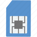 chip, chip card, gsm, sd card, sim card icon
