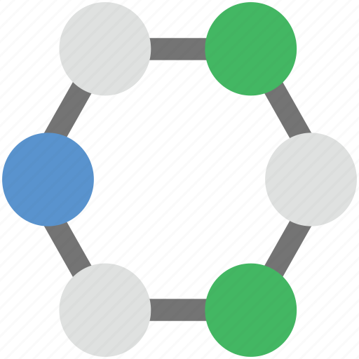 atom, biology, compound, molecule, science icon