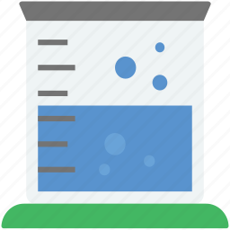 beaker, experiment, lab test, measuring beaker, measuring cup icon
