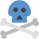 bone, danger, dangerous, deadly, skull icon