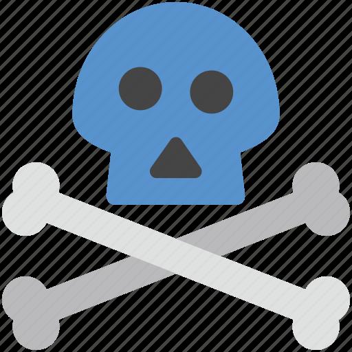 bone, danger, dangerous, deadly, skull icon