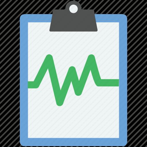 heart report, heartbeat, lifeline, pulsation, pulse icon