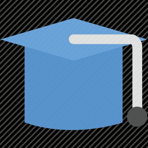 graduation, graduation cap, graduation hat, mortarboard, tassel cap icon