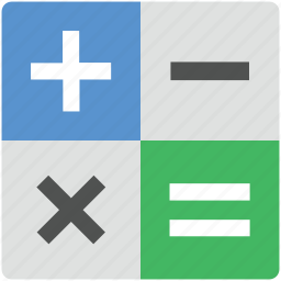 accounting, calculator, math, math symbol, questions icon