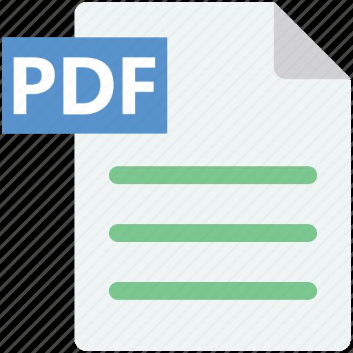 pdf, pdf extension, pdf file, pdf format icon