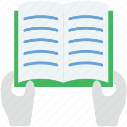 education, holding book, reading book, student, studying icon