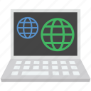 globe, internet globe, laptop, mac map, worldwide icon