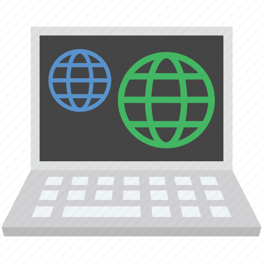globe, internet globe, laptop, mac map, worldwide icon