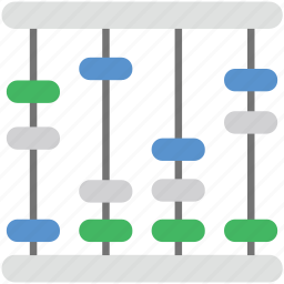 abacus, beads, calculation, counting, counting frame icon