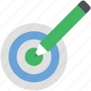 archery arrow, color fill, dart, dartboard, pencil, target icon