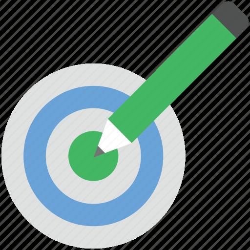 archery arrow, color fill, dart, dartboard, pencil, target icon
