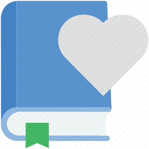 book, book with heart, education, heart, love book icon