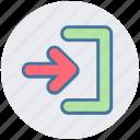 arrow, direction, end, right, swipe