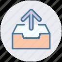 arrow, direction, draw, draw up arrow, up, upload icon
