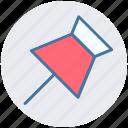 board pin, marker, paper pin, pin, tack, thumbtack icon
