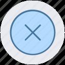 create, cross, cross sign, interface, math, remove
