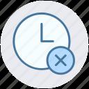 alarm, circle, clock, cross, hours, watch icon