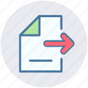 document, file, page, paper, right, sheet icon