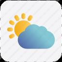 sun, cloudy, weather, autumn, cloud