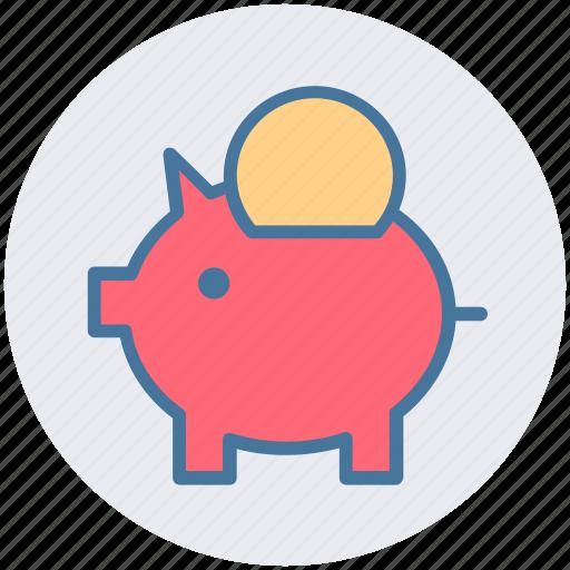 bank, coin, coin saving, piggy, piggy coin, saving icon