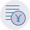 coins, currency, money, yen, yen coins icon