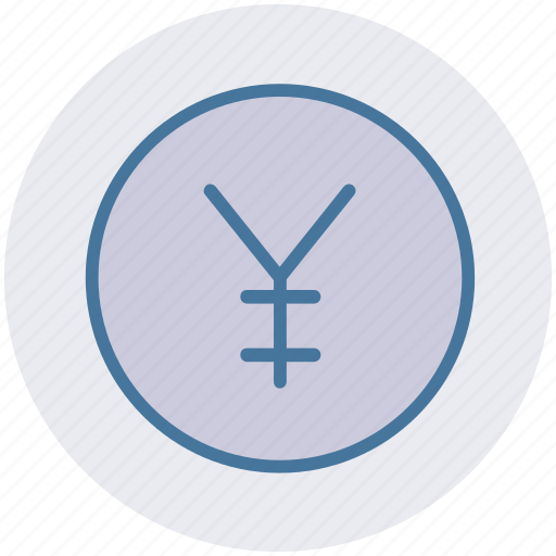 coin, currency, money, yen, yen coin icon