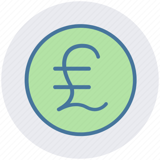 coin, currency, money, pound, pound coin icon