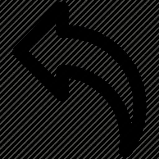 arrow, back, left, left arrow icon