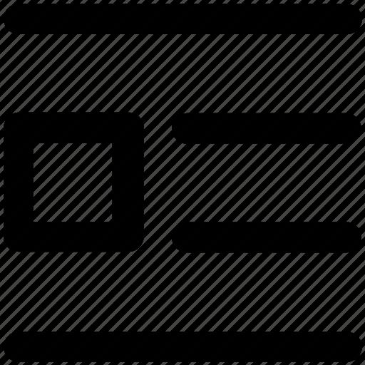 align, alignment, editor, editorial, list icon