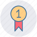 award, award badge, badge, first, first position, prize, ribbon