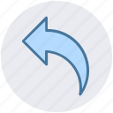 arrow, back, left, left arrow icon