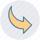 arrow, right, right arrow, top icon