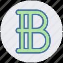 b sign, edit, font, text