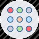 circle, circles, group, info, menu, options, set icon