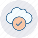accept, cloud, data, good, storage icon