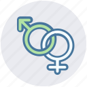 female, gender, male, sex, sexual, sign icon