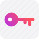 key, lock, password, secure, unlock icon