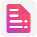 doc, file, page, paper, reading, sheet icon