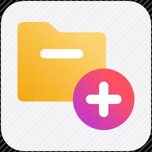 Archive, computer folder, file folder, folder, plus, saving folder icon - Download on Iconfinder